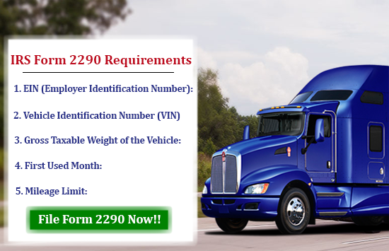 IRS Form 2290 Online Requirements